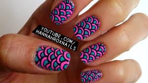 neon scales nail art youtube