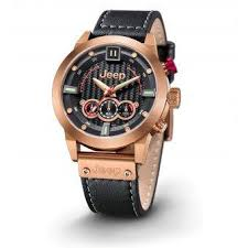 rose gold jeep cherokee jeep men grand cherokee series leather watch ร น 2182jp15403 rose