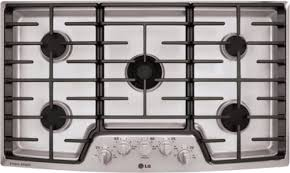 Lg Downdraft Cooktop Lg Lscg366st 36 Inch Gas Cooktop With 5 Sealed Burners 19 000 Btu