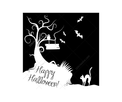 Cat Silhouette Halloween Halloween Vector Illustrations And Cobweb Vectors Happy