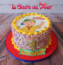 caillou birthday cake caillou cake edible images and spinkles 2nd bday