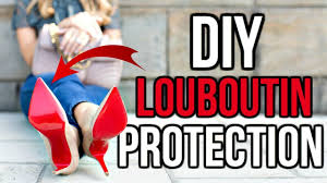 diy how to protect christian louboutin red bottoms youtube
