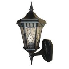 Hampton Bay Outdoor Light Fixtures by Hampton Bay 1 Light Black Dusk To Dawn Outdoor Wall Lantern