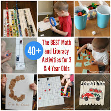 the best math and literacy activities for preschoolers u2013 3 u0026 4