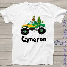 christmas shirt kids rudolph monster truck tshirt personalized