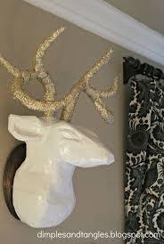 fake deer decorations faux antlers for easy hanging u2014 shopcabanasonthebeach com