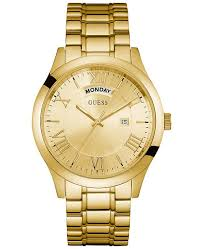 guess stainless steel bracelet images Guess men 39 s gold tone stainless steel bracelet watch 44mm u0791g2 tif