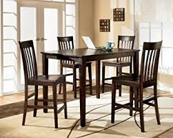 Amazoncom Ashley Hyland D Piece Dining Room Set With - Hyland counter height dining room table with 4 24 barstools