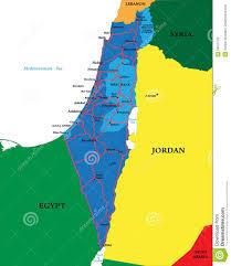 Map Of Israel Political Map Of Israel Stock Vector Illustration Of Haifa 24975728