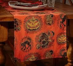 pottery barn table linens spooky halloween icon table runner pottery barn