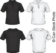 clipart vector of men u0027s polo shirt design templates front view