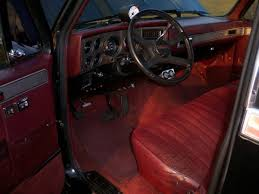 Chevrolet C10 Interior 1985 Gmc Shortbed Pickup Truck C 10 Chevy Black Maroon Interior