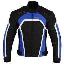 blue motorcycle jacket purchase cheap men s motorbike waterproof jackets azure wear uk