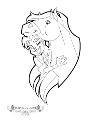 kids fun 10 coloring pages horseland coloring