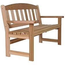 Amazoncom  Cedar Garden Bench  Patio Lawn  Garden - Cedar outdoor furniture