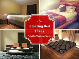 25 ide terbaik floating bed frame di pinterest ranjang platform