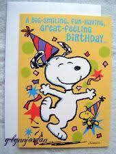 snoopy birthday cards ebay
