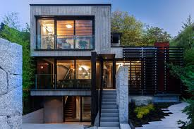 mod canadian house puts its rugged concrete on center stage curbed