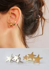 climber earrings ear cuff gold earrings ear climber 3 18k