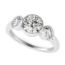 three stone engagement rings bezel set three stone diamond engagement ring sku rd0437