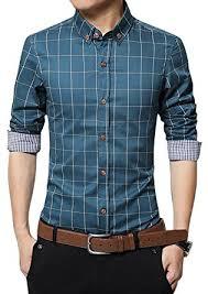 localmode men u0027s 100 cotton long sleeve plaid slim fit button down