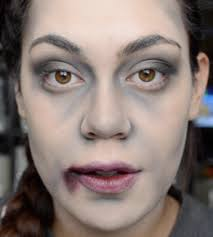 easy zombie or vampire anything dead halloween tutorial