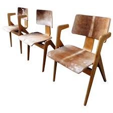 pair of retro chevron chairs by robin day for hille vintage 1950s