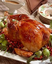 cranberry glazed turkey with cranberry cornbread