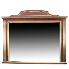 antique mahogany brass inlaid over mantle mirror circa 1900 at