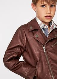Boys Leather Bomber Jacket Boys U0027 Coats U0026 Jackets Pepe Jeans London