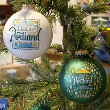 hello from portland burst ornament