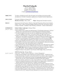 resume administrative skills maribel salgado contract administrator resume