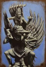vishnu riding garuda painting by matt maguire witch city ink