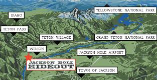Jackson Hole Wyoming Map Jackson Hole Bed And Breakfast Directions