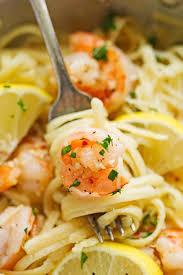 Dinner Ideas With Shrimp And Pasta Shrimp Pasta With Lemon Cream Sauce Little Spice Jar