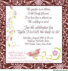 gift card wedding shower invitation wording chic butterfly gift card bridal shower invitations modern ideas