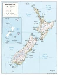 New Zealand Map Map Of New Zealand Relief Map Weltkarte Com Karten Und