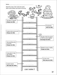 records sweet things word ladder grades 4 6 printables sheet kids