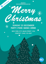 christmas flyer poster design psd free download