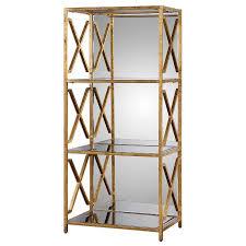 Etagere Antique Mirrored Back Bookshelf