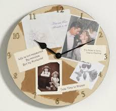 personalized clocks with pictures personalized photo collage memory wall clock memory wall photo