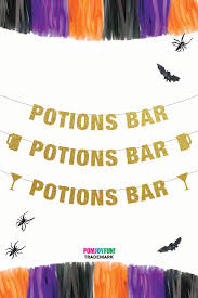 potions bar banner halloween party banner halloween party