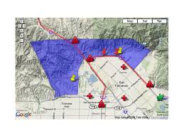 Pierce College Map Symlar Fire Evacuation Map And Information Nbc Southern California
