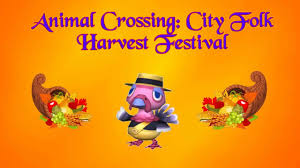animal crossing city folk harvest festival thanksgiving