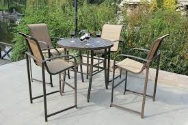 Bar Height Patio Set With Swivel Chairs Bar Height Patio Set With Swivel Chairs Patio High Top Patio Sets
