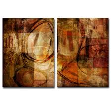 ready2hangart u0027earth tone abstract iii u0027 oversized canvas wall