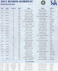 2016 ipl match list ipl 6 ipl 2013 match schedule ipl 2013 fixture chart ipl 6