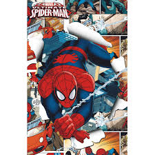 marvel spiderman light up canvas wall art with bonus led lights marvel spiderman light up canvas wall art with bonus led lights walmart com