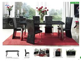 Contemporary Dining Set by Download Black Modern Dining Room Sets Gen4congress Com
