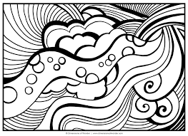 abstract coloring pages the sun flower pages